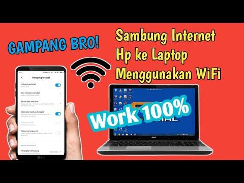 Berbagi WiFi dari HP ke leptop melalui kabel USB.