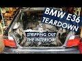 BMW E36 318ti Interior Seat/Trim Removal [DIY Race Car Build EP. 1]