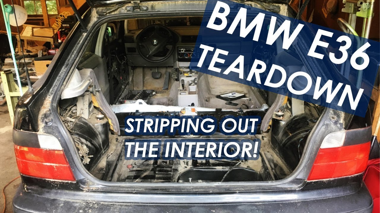 bmw e36 318ti interior seat trim removal diy race car build ep 1  [ 1280 x 720 Pixel ]