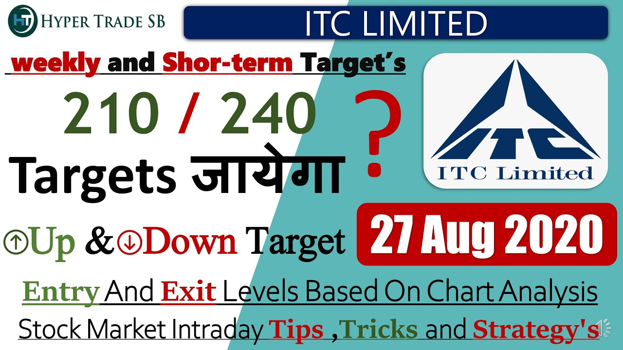 Itc Share Price Target 27 August Itc Latest News Itc Share Intraday Tips Itc Intraday Target Itc Ltd Youtube