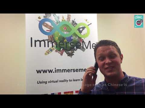 Mayor of Nelson - Rachel Reese and Scott from ImmerseMe celebrate NZCLW.