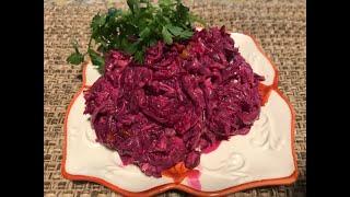 816. Салат из свеклы с орехами и майонезом. Быстро и вкусно.
