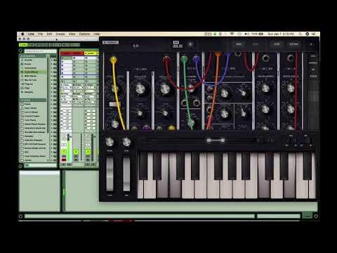 Moog Model 15 iOS App Overview w/ Audiobus & Ableton Live