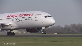 Kenya Airways 787 dreamliner nose up landing