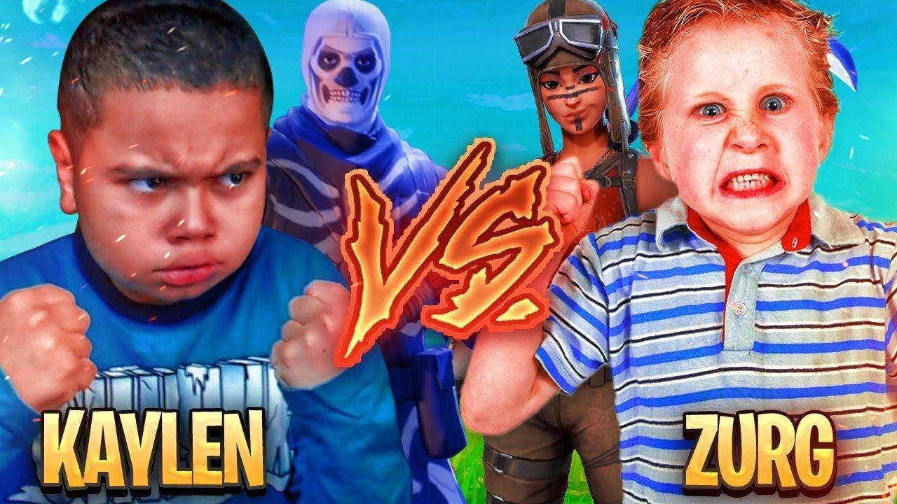 1v1 9 Year Old Brother Vs Trash Talking Little Kid Zurg Fortnite