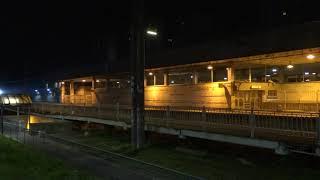 ночной поезд Ласточка пролетает город Мурино по Ст.Девяткино