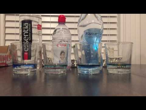 Ph Level Test Of Water (Essentia, Evian, Eternal)