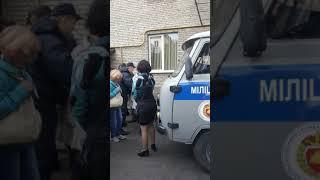 Потасовка в Бресте между милицией и противниками завода 07.10.18