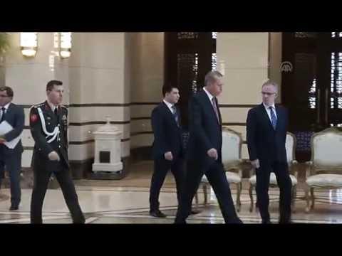 Turkish President Erdogan meets Bulgarian Ambassador Neynsky in Ankara