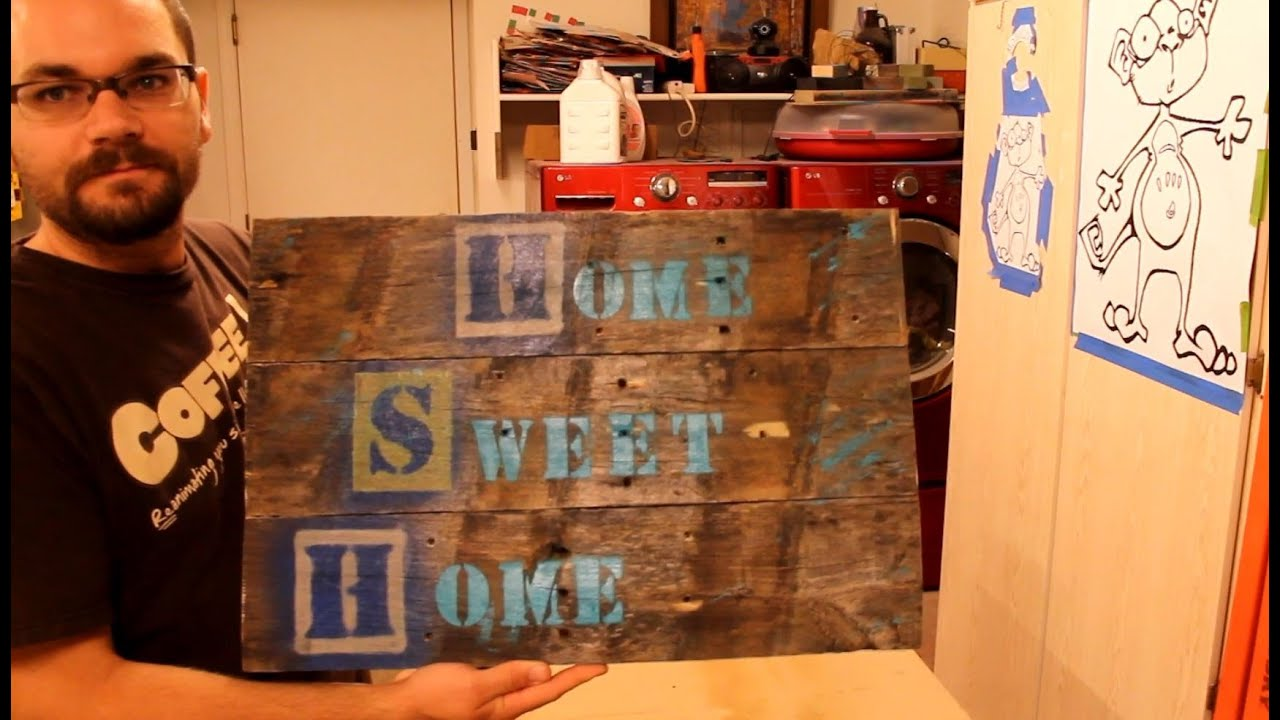 Wooden Signs with Quotes or Sayings - YouTube