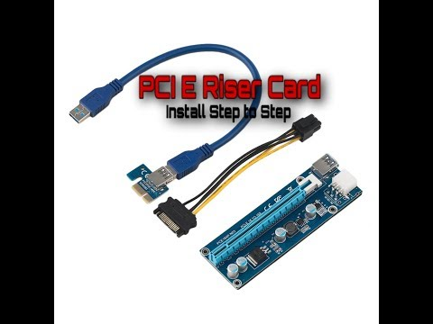 How To Install PCI E Riser Card In PC | Gaming And Cryptocurrency Mining | Step To Step |