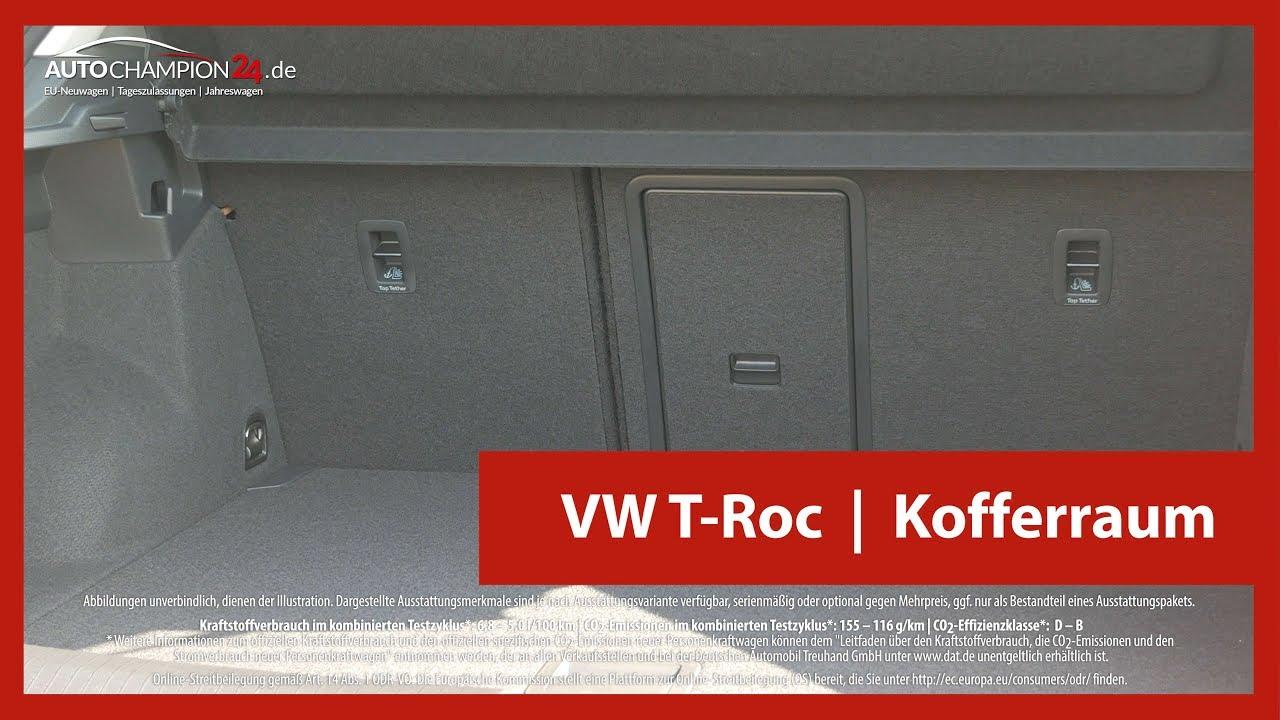 vw t roc kofferraum autochampion24 youtube. Black Bedroom Furniture Sets. Home Design Ideas