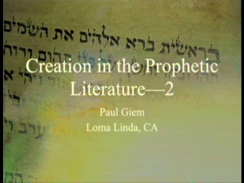 Download Creation in the Prophetic Literature (Part 2 - Nahum, Habakkuk, Zephaniah, Joel, . . .) 5-14-2016