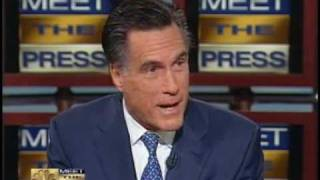 Mitt Romney on Meet the Press vs. Jennifer Granholm
