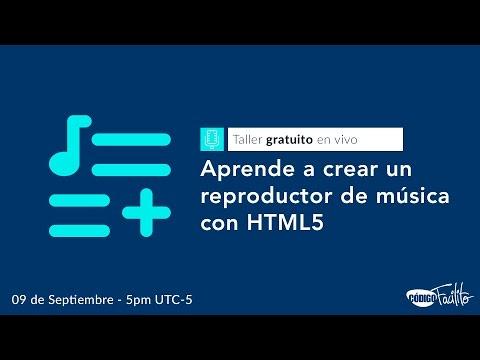 Crea tu propio reproductor de audio con HTML5 - Taller gratuito