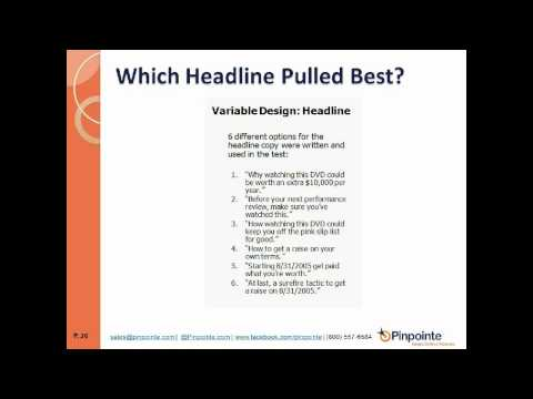 Email Marketing Webinar: Creating Landing Pages that Sell
