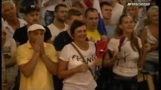 """Краснодар радуется олимпийскому золоту российского гандбола. Сюжет МТРК """"Краснодар"""""""