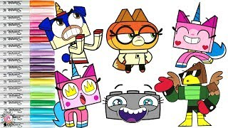Unikitty Coloring Book Compilation Cartoon Network Puppycorn Dr Fox Hawkodile | SPRiNKLED DONUTS
