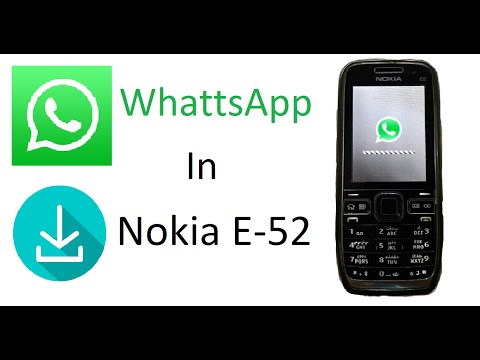 How to Install WhatsApp in Nokia E-52 |Full Review|