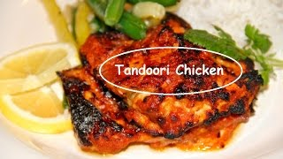 Tandoori Chicken Recipe - Roasted  Chicken Cooked Without Oven Or Tandoor Poulet Rôti