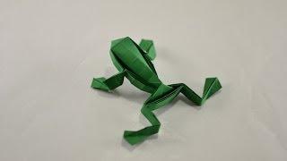 Origami jumping Frog by Toshikazu Kawasaki - Yakomoga Origami tutorial