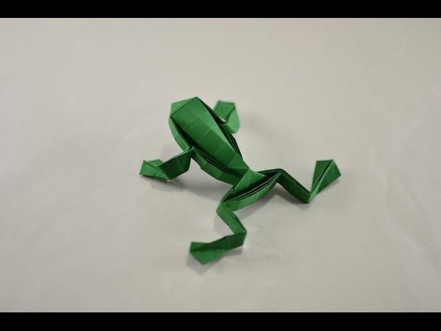 Origami Jumping Frog By Toshikazu Kawasaki