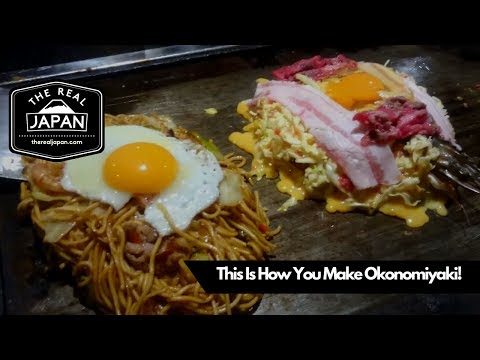 This is How You Make Okonomiyaki! Ajinoya Restaurant, Osaka | The Real Japan | HD
