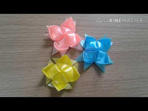 ดอกบวเลกlotus Flower Pattern 2easy Ribbon Flower How To Fold