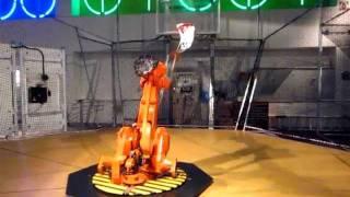 Robot Shoots Basketball