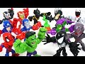 watch he video of Marvel Avengers mini VS Villains, Dinosaurs army! Hulk, Spider Man, Iron Man - DuDuPopTOY