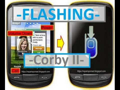How To Flashing Samsung Corby II S3850