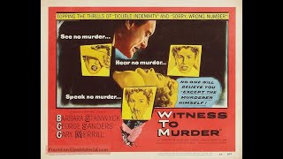 Witness To Murder 1954) Trailer