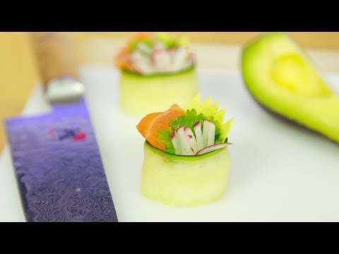 Cucumber Sushi Canapé Simple Recipe