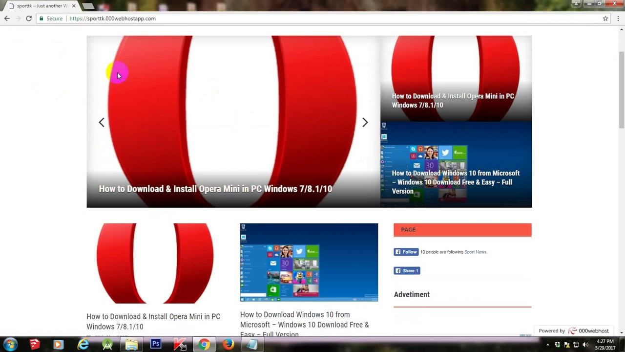How to Download & Install Opera Mini in PC Windows 7/8.1 ...