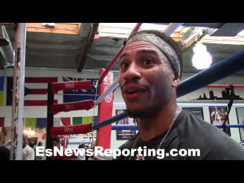 Brandyn Lynch after sparring with Shane Mosley - EsNews Boxing