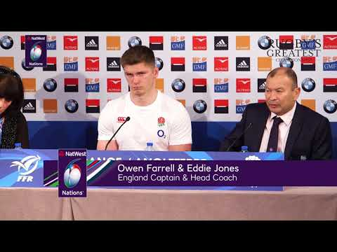 Eddie Jones and Owen Farrell after France defeat  NatWest 6 Nations