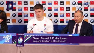 Eddie Jones and Owen Farrell after France defeat | NatWest 6 Nations