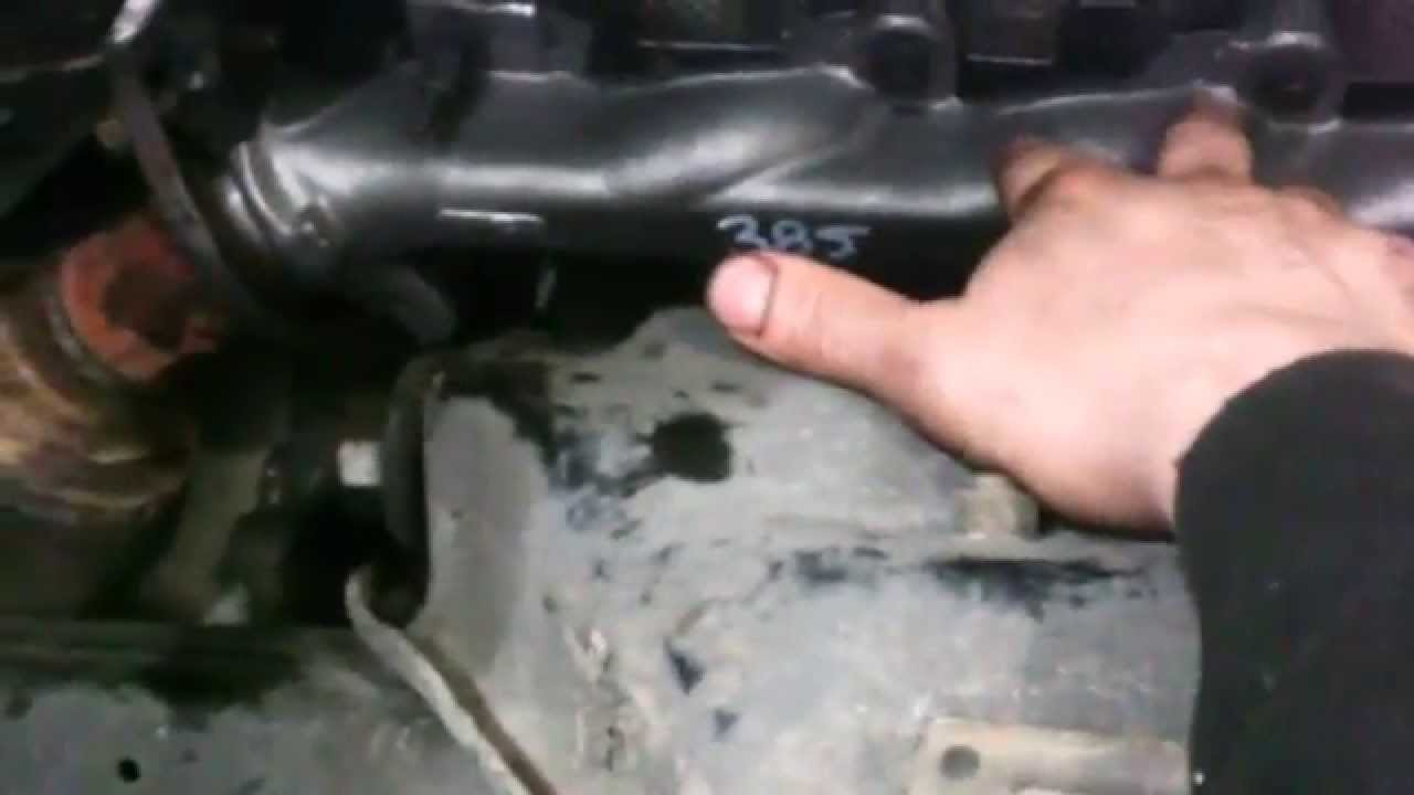 small resolution of exhaust manifold replacement 2004 2007 dodge dakota durango 4 7l v8 passenger side youtube
