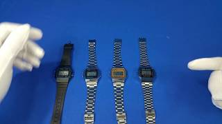 Casio F91W, A158W, A158WE and A168 Comparison and Review