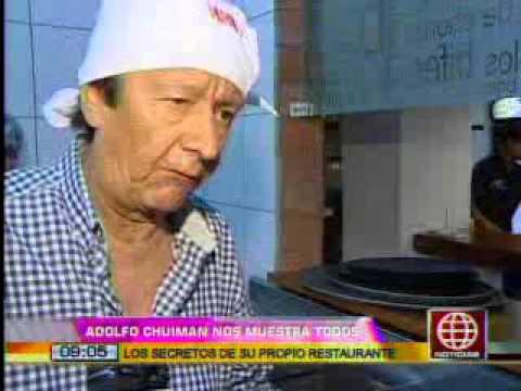 América Noticias: 11.01.13- Adolfo Chuiman mostró los secretos de su restaurante