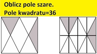 Pole kwadratu | Egzamin gimnazjalny 2019 | Matfiz24.PL