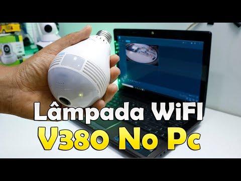 CONFIGURANDO LÂMPADA CÂMERA IP WIFI V380 PASSO A PASSO NO