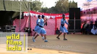 Young Nihangs show their martial strength : International Gatka Festival, Punjab