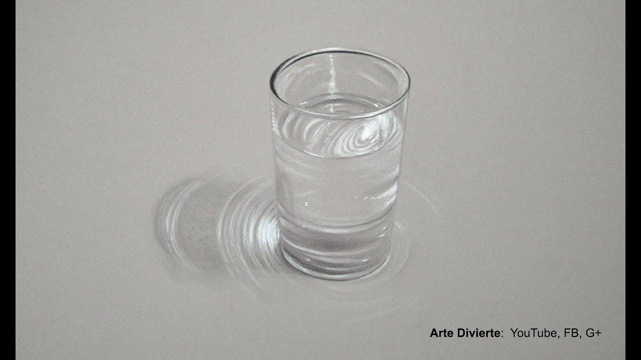 Cmo hacer un dibujo hiperrealista de un vaso de agua  Arte