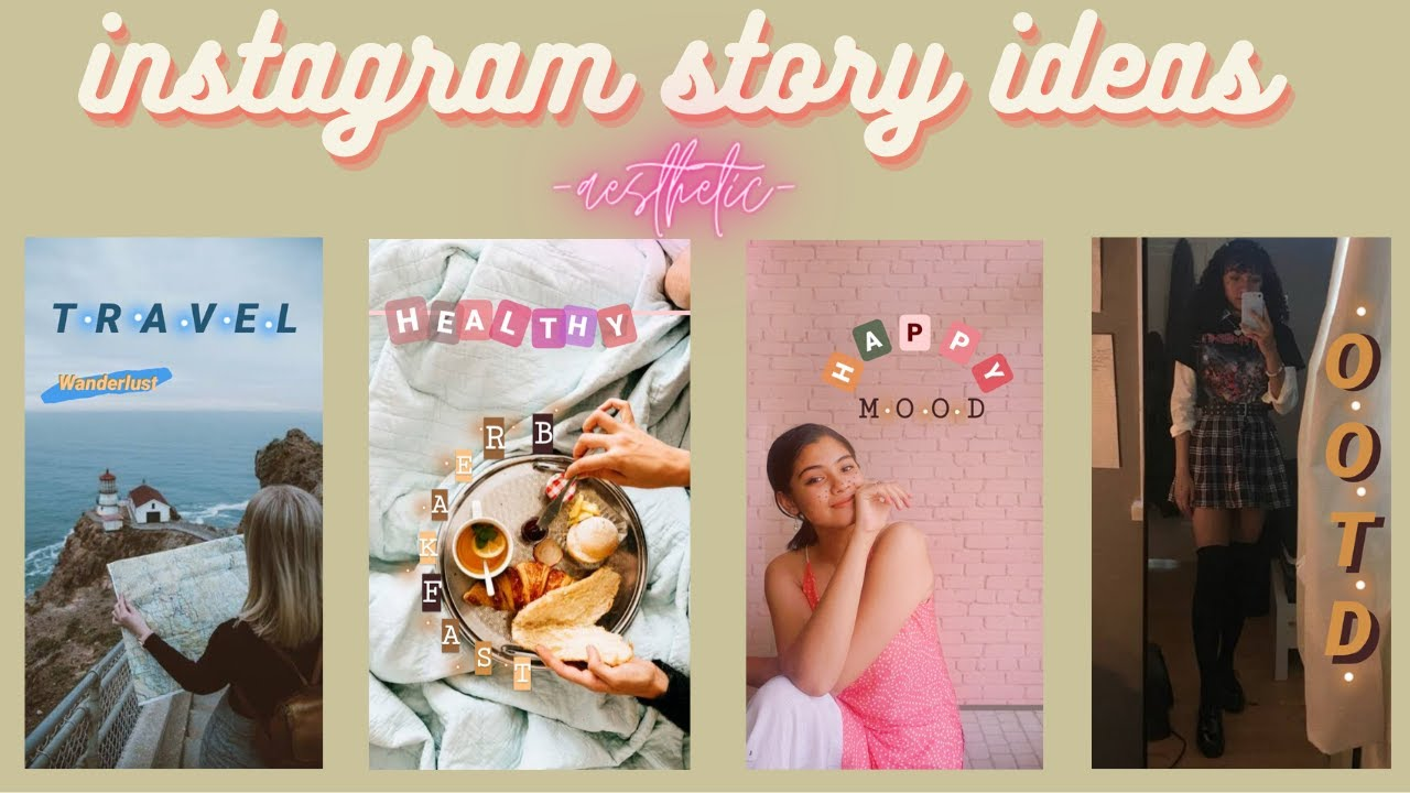 5 Easy And Creative Insta Story Ideas Using Only Instagram App Aesthetic Ig Story Android And Ios Youtube