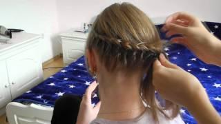 Колосок на затылке для коротких волос