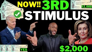 YES 24 HOURS!! $2,000 Thİrd Stimulus Check Update + [JUST NOW] Stimulus Package Update
