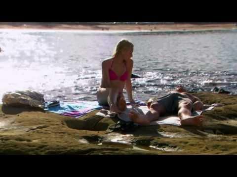 Rebecca Breeds ( Ruby Buckton ) and Tessa James ( Nicole Franklin ) On the Beach - Playboy Worthy