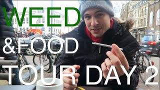 WEED & MUNCHIES IN AMSTERDAM ???? ☁️ #EuroweekDAY2 Travel Vlog – more Buds, more Coffee, more Fo