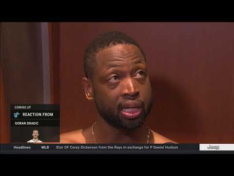 Dwyane Wade -- Miami Heat at New Orleans Pelicans 02/23/2018